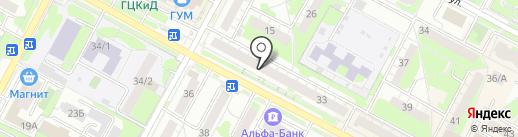 Зрение на карте Бердска