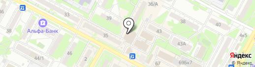 Вязаные штучки на карте Бердска