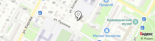 Почтовое отделение №4 на карте Бердска