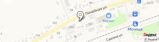 Продовольственный магазин на карте Мочища