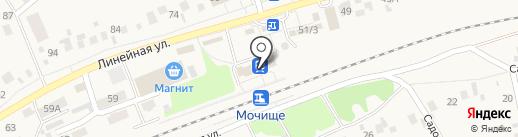 Железнодорожный вокзал на карте Мочища