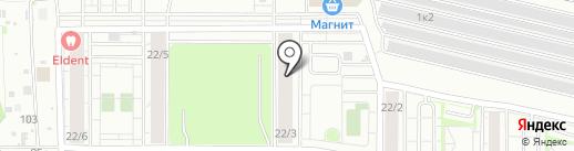 Птицефабрика Октябрьская на карте Новосибирска