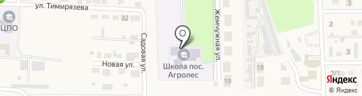 Средняя общеобразовательная школа на карте Агролеса