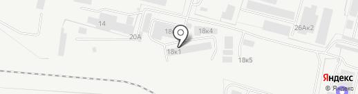 Склад мебельной фурнитуры на карте Бердска