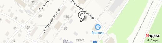 Барышевский на карте Барышево