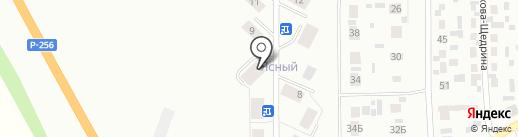 Ясный на карте Искитима