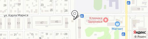 Спутник на карте Искитима