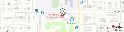 На крючке на карте Искитима