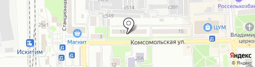 Магазин пряжи на карте Искитима
