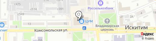 АСМ-мебель на карте Искитима