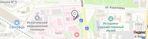 Поликлиника №1 на карте Искитима