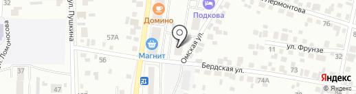 Суши Гейша на карте Искитима