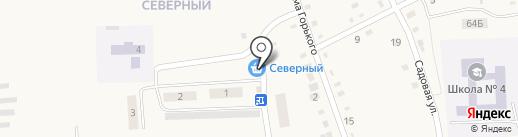 Северный на карте Черепаново