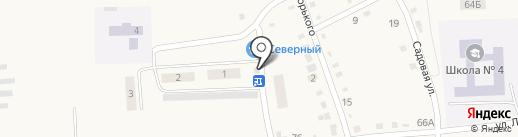 Обской на карте Черепаново