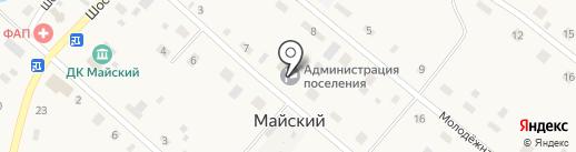 Администрация Майского сельсовета Черепановского района на карте Майского