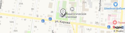 Черепановский педагогический техникум на карте Черепаново