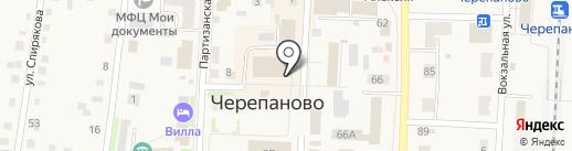 Лебедёвская агрофирма на карте Черепаново