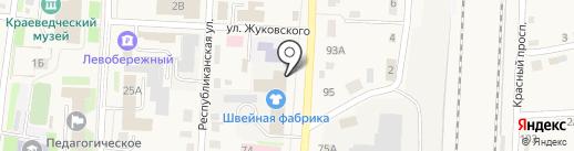 Силуэт на карте Черепаново