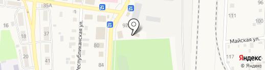 Автомойка на карте Черепаново