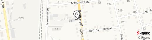 Клен на карте Черепаново