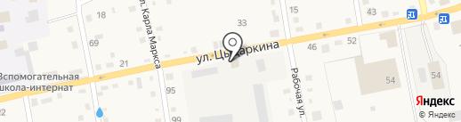Техсиб на карте Черепаново