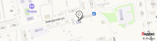 Черепановская централизованная библиотечная систем, МКУ на карте Черепаново