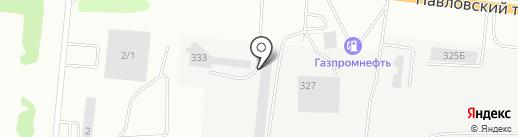 АНТАРКТИДА на карте Барнаула