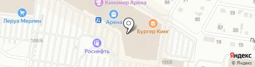 Стекломастер на карте Барнаула