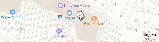 Стекло дизайн на карте Барнаула