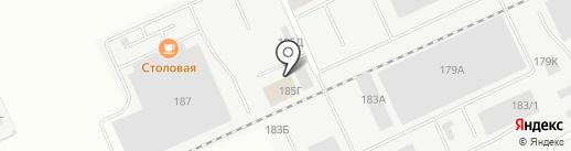 СХС на карте Барнаула