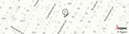 Мастерская по ремонту автостекол на карте Барнаула