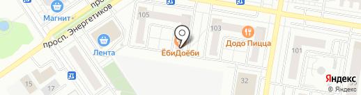 Магазин & пекарня на карте Барнаула