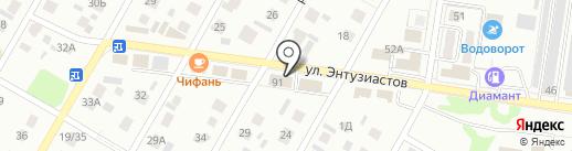 SMILE на карте Барнаула