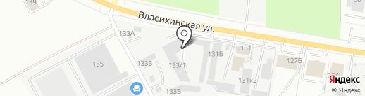 АлтайТеплоРесурс на карте Барнаула