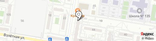 Кафе быстрого питания на карте Барнаула