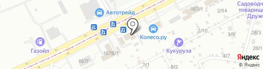 Авиталь на карте Барнаула