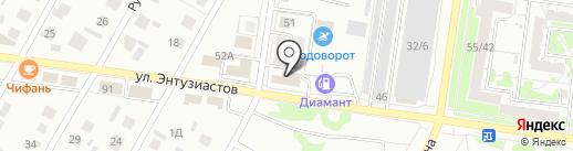 Форсаж на карте Барнаула
