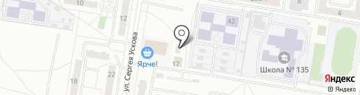 Аполлон на карте Барнаула
