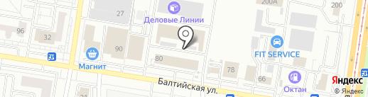 Автоблик на карте Барнаула