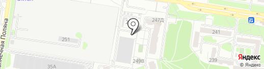 Мизюлинская роща на карте Барнаула