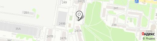 Хмельград на карте Барнаула