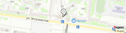 Магазин оптики на карте Барнаула