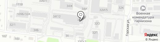 МАЭСТРО на карте Барнаула