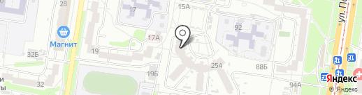 Вкусный дворик на карте Барнаула