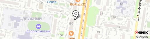 Банзай на карте Барнаула