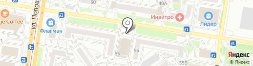 Политехника на карте Барнаула