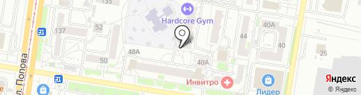 Сеть парикмахерских эконом-класса на карте Барнаула