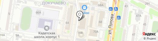 Грида на карте Барнаула