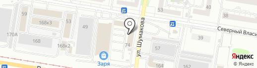 Студия развития гибкости на карте Барнаула