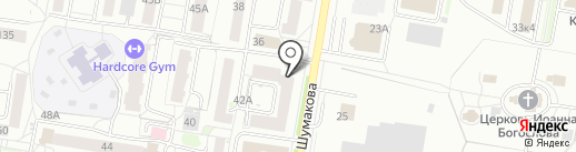 Октябрьский на карте Барнаула